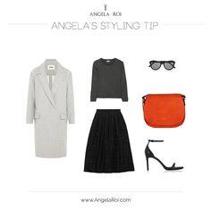 Angela's Style Tip: Morning Orange Cross-body.