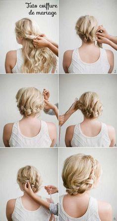 Des idées de coiffure mariage cheveux courts, mi longs, longs, lâchés, bouclés, détachés, frisés des coupes et accessoires cheveux.