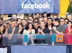 Facebook recauda 16 mil mdd en su estreno en la bolsa de NY.