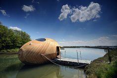 Floating Wooden Exbury Egg Shelter