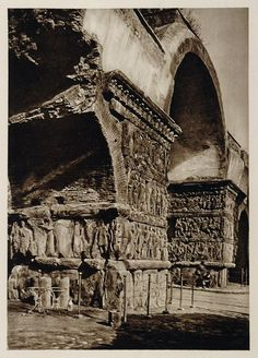 1928 Arch of Galerius Saloniki Salonica Thessaloniki - ORIGINAL GREECE