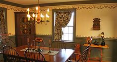 The stencil design originates from the Captain John Coolidge House in Plymouth, Vermont stenciled by Erastus Gates.