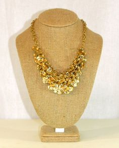 Essential Metallic Necklace in Gold by Violet Clover