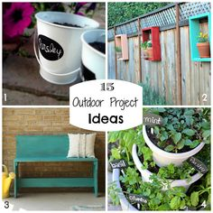 1. Creative Ideas  2. Casa de Berry   3. Primitive & Proper  4. Fancy Frugal Life It's (kinda) starting to feel like spring here in Kentucky and everyone is starting to think about things to do outside. If you're in need of some inspiration to spruce up your outdoor living space, you're going to love these! …