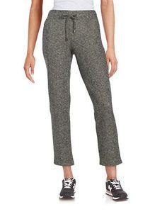 Context Mesh-Accented Drawstring Pants Women's Black/White Large