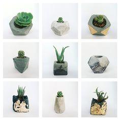 how to make concrete planters - Google Search