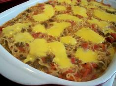 Ramen Noodle Casserole from Food.com: This is an easy casserole and very quick to make. This recipe can easily be increased for a last minute get together. Add a salad and you have a great dinner.