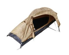 One-Man-COYOTE-Military-Army-RECON-TENT-1-Berth-Brown-Canvas-Camping-Shelter