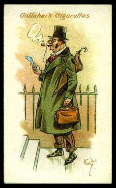"Flickr- Gallahers ""Votaries of the Weed"" series of 50 issued in 1916 #18 The Rate Collector Smoker"