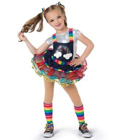 19225 - Rainbow Rocks by A Wish Come True Dance Costumes Kids, Hip Hop Costumes, Hip Hop Outfits, Dance Outfits, Girl Outfits, Dance Photography Poses, Cute Kids Photography, Jazz Dance Poses, Rainbow Dance
