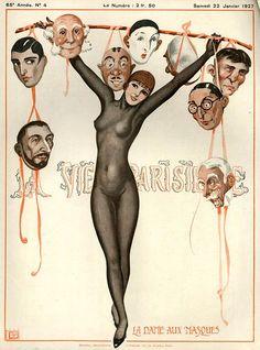 Illustration by Georges Leonnec For La Vie Parisienne January 1927