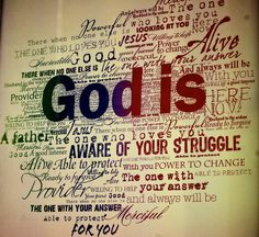 God is.. Love this for any wall. Great reminders and all true.