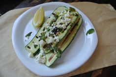 Grilled Zucchini with Mint and Feta (Simple Side Dish for Summer Grilling)