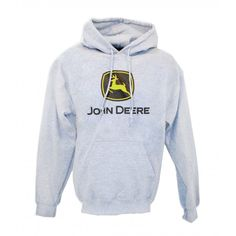 John Deere Gray Construction Logo Hoodie - Sweatshirts & Hoodies - Men's | RunGreen.com
