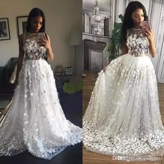 Tony Chaaya 3D Floral Beach Holiday Evening Pageant Party Dresses 2017 Sheer Neck Full length Handmade Flower Dubai Arabic Prom Gowns