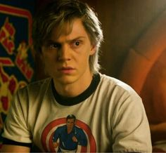 Evan Peters as Peter Maximoff/Quicksilver in X-Men: Apocalypse. Evan Peters, American Horror Story, Bucky, Star Lord, The Avangers, Marvel Dc, Quicksilver Xmen, Thor, Peter Maximoff
