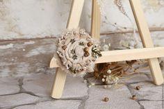 Fabric Flowers, Ladder Decor, Boho, Burlap Flowers, Bohemian