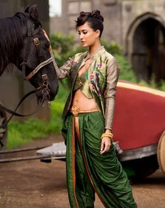 imperial green dhoti.