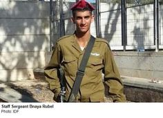 St. Sgt. Bnaya Rubel, 20, from Holon, served in the Paratroopers 101st Battalion. He was shot dead by a terrorist in Gaza who emerged from a...