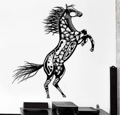 Wall Decal Horse Mustang Animal Ornament Tribal Mural Vinyl Decal VS3196 *** See this great image  (This is an amazon affiliate link. I may earn commission from it)