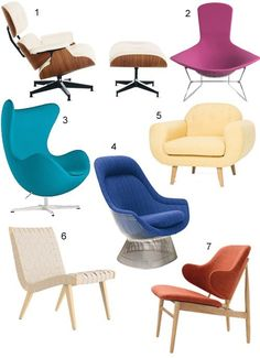 I dream about the Eames lounge chair in ash and white leather. Here are 25 other modern lounge chairs in all sorts of colors, shapes, sizes, and prices. Modern Lounge, Modern Chairs, Lounge Chairs, Dining Chairs, Modern Living, Mid-century Modern, Living Room Furniture, Modern Furniture, Get The Look