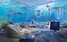 Dubai's Crazy New Floating Underwater Resort Will Be Inspired by Venice   Down here all the fish is happy.