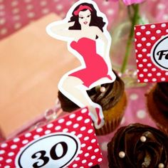 pin-up girl party printables