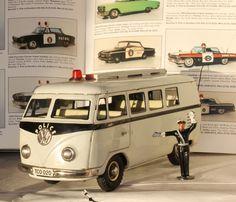 #Antique# TippCO TCO Volkswagen Transporter Samba Police Tin Germany Gama Arnold