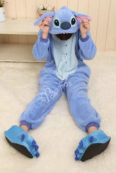 Blue Stitch Onesies Hoodie Pajamas Animal Kigurumi   PajamasBuy
