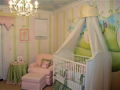 pink white and green princess theme that would work with less pink and more frogs!