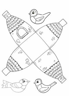 Kafes Easy Arts And Crafts, Easy Crafts For Kids, Diy And Crafts, Paper Crafts, Autumn Crafts, Autumn Art, Spring Crafts, Colouring Pages, Coloring Pages For Kids