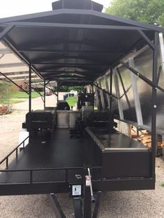 GrillBillies Barbecue can design a custom BBQ trailer with just about any component. With our large selection of Meadow Creek barbecue equipment we can design t Bbq Smoker Trailer, Bbq Pit Smoker, Drum Smoker, Bbq Grill, Barbecue, Grilling, Custom Bbq Smokers, Custom Bbq Pits, Offset Smoker