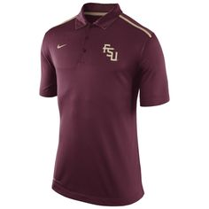 more photos ddc0d ab5c2 Mens Florida State Seminoles Nike Garnet Elite Coaches Performance Polo