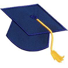 Graduation Cap Applique Design