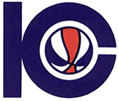 Kentucky Colonels Primary Logo (1971) - A blue KC with a basketball in the C