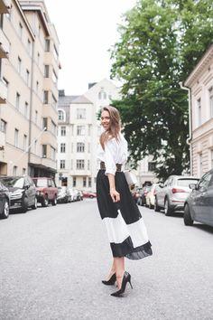 Vyötetty - Strictly Style by Hanna Väyrynen Pleated Skirt, Midi Skirt, Balmain, Christian Dior, Zara, Blouse, Skirts, Outfits, Style