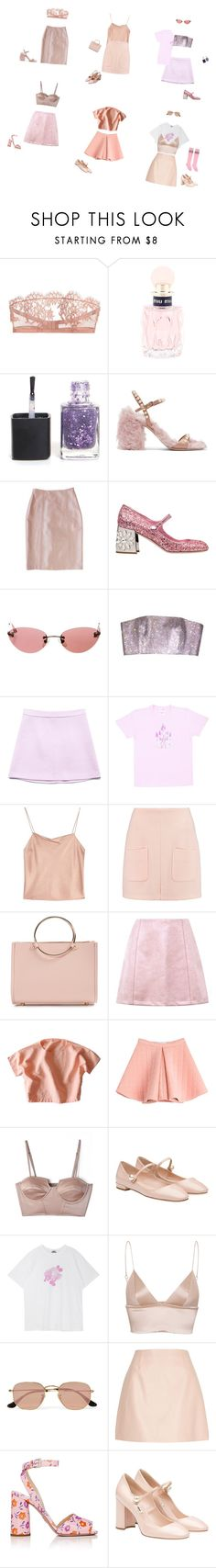 """what a squad part IV"" by whatevenisfashion ❤ liked on Polyvore featuring I.D. SARRIERI, Miu Miu, Plakinger, Chanel, Forever 21, Alice + Olivia, See by Chloé, Future Glory Co., Marina Hoermanseder and Shakuhachi"