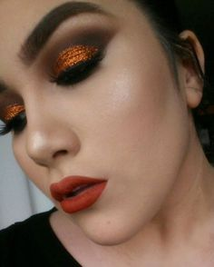 #mua #burntorange #glitter #occ  #boldlips #highlight #contour #coloredraine #blush #makeup #yeg #yegartist  #makeupforever #mac #brows #smokeyeye #lovewins Autumn Makeup, Coloured Raine, Bold Lips, Blush Makeup, Makeup Forever, Smokey Eye, Burnt Orange, Contour, Makeup Ideas