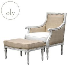 Oly hanna chair and ottoman #Oly #Chairs #Ottomans