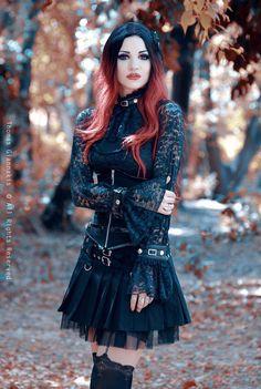 Model: Mary De Lis Outfit: Burleska Corsets Photo: Thomas Giannakis - Human Photos Welcome to Gothic and Amazing | www.gothicandamazing.com