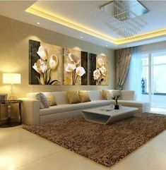 (no frames) picture 3 piece modern cheap home decor wall pictures oil paintings art on flower bedroom living room canvas print Decor, Cheap Home Decor, Living Room Design Modern, Living Room Designs, Living Room Canvas Prints, House Interior, Living Room Canvas, Room Design, Room Decor