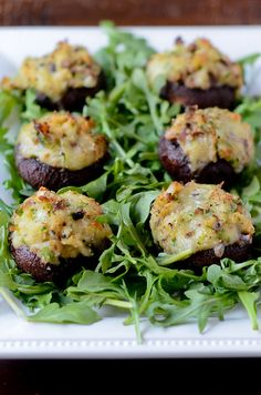 Crab and Brie Stuffed Mushrooms,  Scroll down the page for recipe