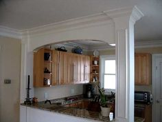 Open galley kitchen - like how the family room can be seen and the ...