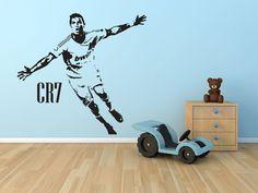 Cristiano Ronaldo Large CR7 Wall by BeautifulGameWallArt on Etsy, £14.95