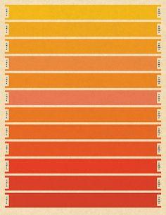 Litmus Orange CMYK Print - Large - Print - Bars - Pantone - Index color - orange - 10x13 via Etsy