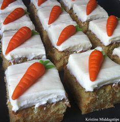 Fun Baking Recipes, Cake Recipes, Cooking Recipes, Norwegian Food, Norwegian Recipes, Norway Food, Kolaci I Torte, Something Sweet, Carrot Cake