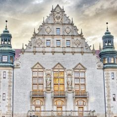 Adam Mickiewicz University's building. Built in the North Renaissance style in 19th c…
