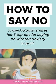 How to say no without the guilt and anxiety? Click to read 5 top tips from a psychologist #assertiveness #assertivenesstraining Welcome To The Group, Overcoming Anxiety, Anxiety Tips, Assertiveness, Anxiety Relief, Self Esteem, Self Improvement, Self Help, Self Care