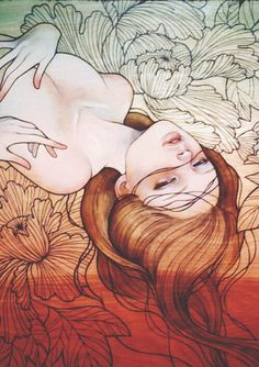 Loved Dani Olivier, Art Sketches, Art Drawings, Audrey Kawasaki, Wow Art, Illustration Artists, Japanese Art, Female Art, Les Oeuvres