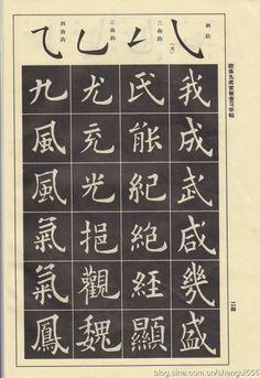 [转载]欧阳询九成宫楷书偏旁部首笔画学习